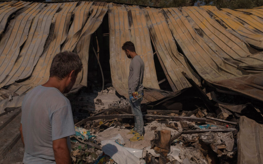 Snapshots from the days after the fire that burned Moria refugee camp