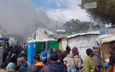 Φωτιά στο camp της Μόριας
